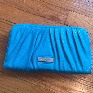 Jessica Simpson turquoise clutch/wallet
